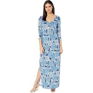 NEW Lilly Pulitzer Turtle Blue Anissa Maxi Dress